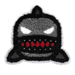 Adorable (and angry) Chenille Shark Patch 13cm