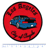 "Cool Los Angeles ""City of Angels"" Iron On Low Rider JDM Street Racer Car Patch 9cm Applique"