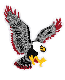XXL Extra Large Chenille Flying Eagle Patch 20cm