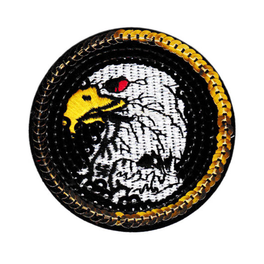 American Bald Eagle USA Biker Motorcycle Patch 7cm Sequins & Embroidery