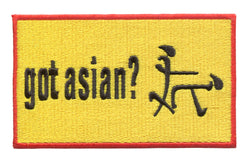 Got Asian? Funny Patch 12cm
