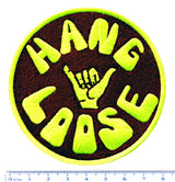 "Cool Vintage Style 70's 80's Surfing ""Hang Loose"" Iron On Patch 8cm Applique"
