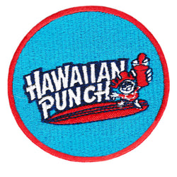 Cool Vintage Style 70's 80's Surfing Hawaiian Punch Iron On Patch 8cm Applique