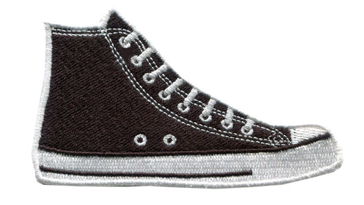 Skater DJ Shoe High Top Embroidered Iron-On Patch 9.5cm