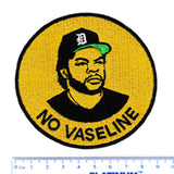 "Cool Ice Cube ""No Vaseline"" Iron On Patch 9cm"
