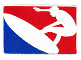 Cool Major League Surfing Iron On Surfer Patch 10cm Applique