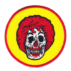 Cool Clown Skull Iron On Patch 8cm