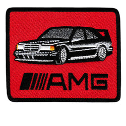 Vintage Style Mercedes AMG Iron On Patch 8.5cm Applique