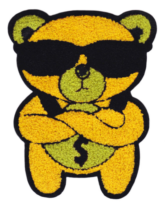 Cool Chenille Money Teddy Bear Patch 22cm