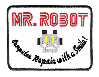 Mr Robot fsociety Embroidered Iron-On Patch 4 inch x 3 inch