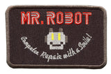 Mr Robot fsociety Embroidered Iron-On Patch 8cm (Special Black)