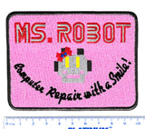 Mr. Ms. Robot fsociety Embroidered Iron-On Patch 4 inch x 3 inch