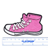 Skater DJ Shoe High Top Embroidered Iron-On Patch 10cm