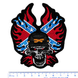 Large Rebel Skull Biker Patch 11cm