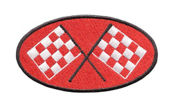 Vintage Style Checkered Flag Racing Patch 10cm