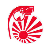 Cool JDM Grenade Patch Japanese Rising Sun Flag Motorcycle Punk 9cm