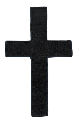 XXL Extra Large Black Chenille Cross Patch 23cm
