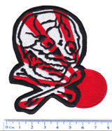 Cool Rising Sun Skull Patch 10cm