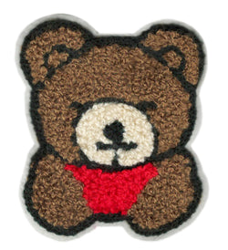 Cute Chenille Teddy Bear Patch 9cm