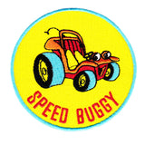Cool Vintage Style Speed Buggy Iron On Patch 9cm Dune Beach Applique