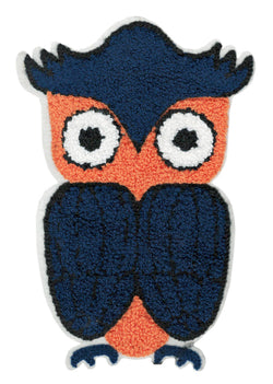 XXL Extra Large Chenille Owl Patch 20cm Applique
