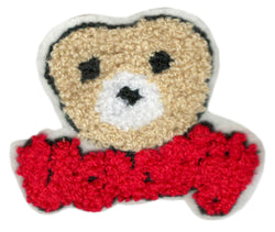 Cute Chenille Varsity Teddy Bear Patch 9cm