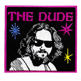 "Large & Very Cool ""The Dude"" Iron On Bowling Patch 10.5cm"
