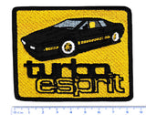 Vintage Style Lotus Esprit Turbo Sports Car Iron On Patch 8.5cm