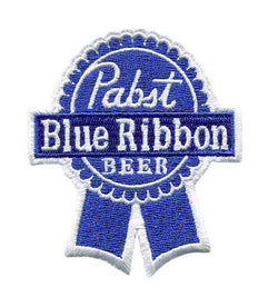 Vintage Style Pabst Blue Ribbon PBR Beer Embroidered Patch 8cm