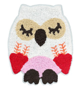XXL Extra Large Chenille Owl Patch 22cm Applique