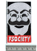fsociety Mr Robot Embroidered Iron-On Patch 8cm