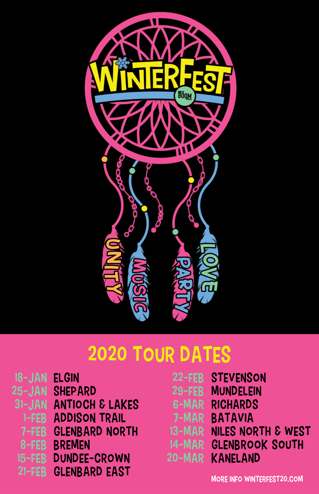 WinterFest 2020 Official Tour Poster - 24