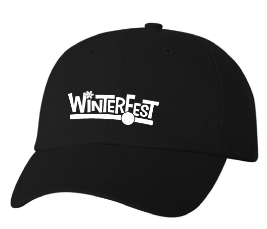 WinterFest Dad hat, black no year