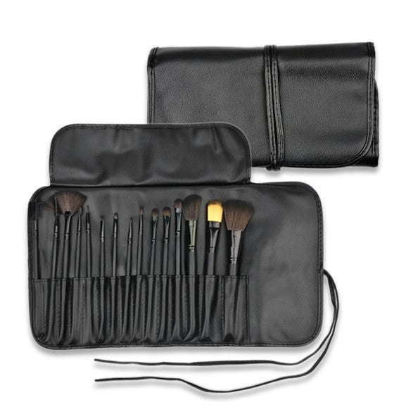 15 Pieces Professional Makeup Brush Set with Pouch