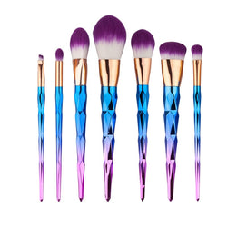 7 Pieces Purple Diamond Unicorn Makeup Brushes