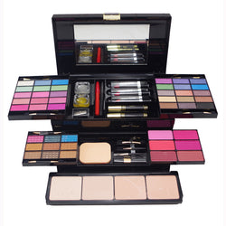 Professional Makeup Kit with Full Set of Eyeshadow, Blusher, Concealer, Lipstick and Brushes