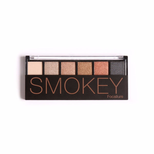 Focallure Smokey 6 Colours Eye Shadow Palette