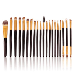 20 Pieces Professional Makeup Brush Set in Black and Gold