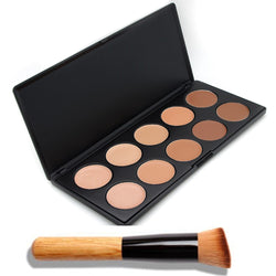 Multi-Colour Concealer - Contour Palette with Angled Brush