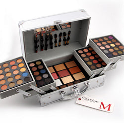 Professional Silver Case Complete Makeup Set