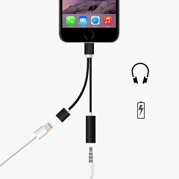 2 IN 1 EARPHONE & LIGHTNING ADAPTER FOR IPHONE 7 | 8 | X