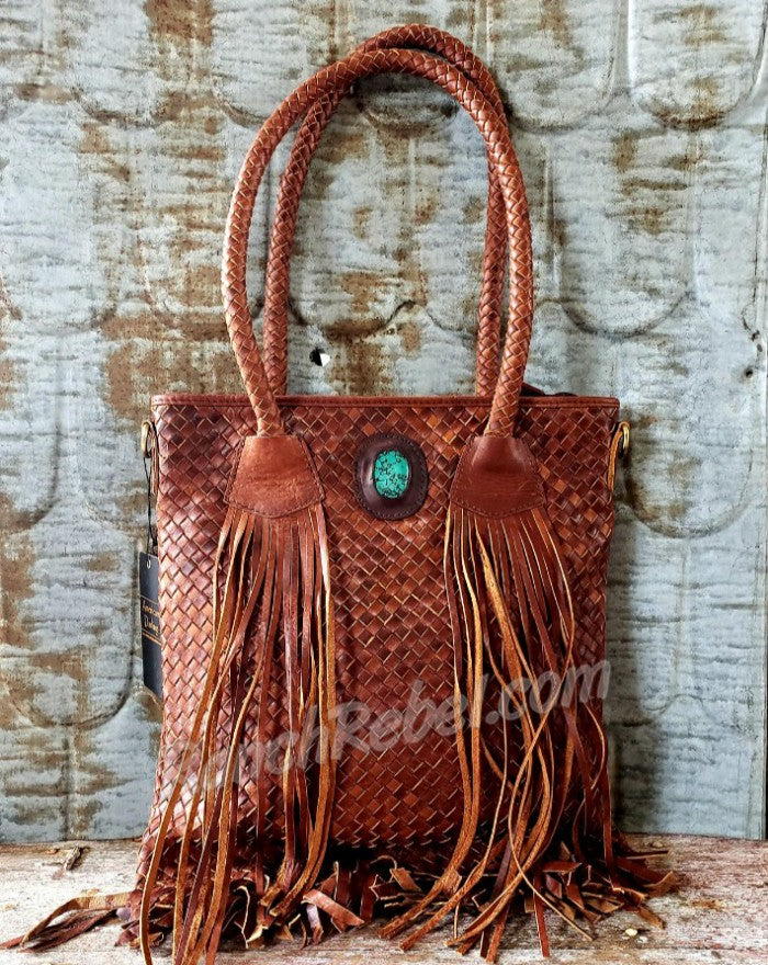 Basket Weave Shoulder Bag #3912