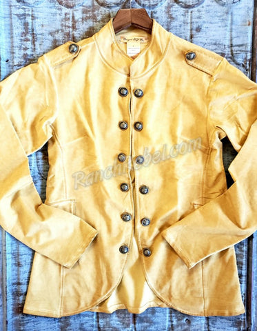 Cowgirl Tuff Vintage Gold Military Jacket #3638