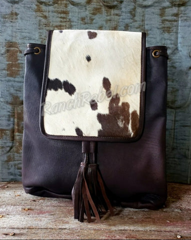 Espresso Cowhide Back Pack #3919-1