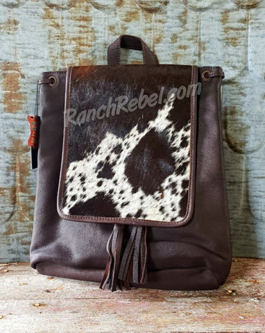 Espresso Cowhide Back Pack #3919-2