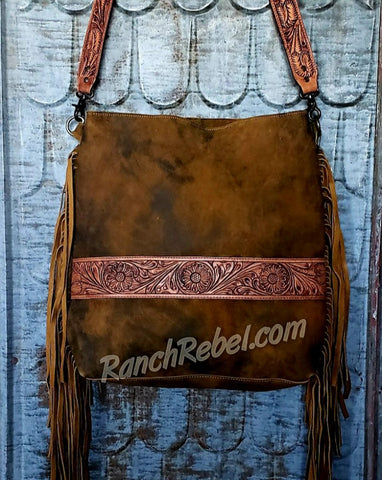 Rough Out Leather Bag #3854