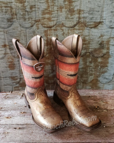 Ariat Circuit Savanna Distressed Gold & Rust Saddle Blanket Boot #3824