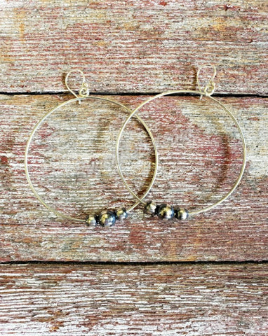 Sterling Silver Ball Hoops #3978