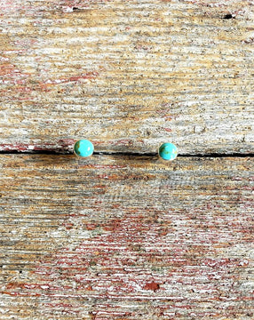 Turquoise Post Earrings #3835