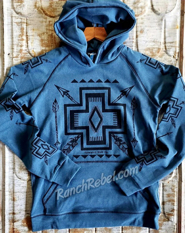 Blue Fleece Cross Hoodie #3735